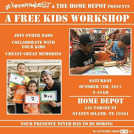 Fatherhoodislit X Home Depot Building Memories Oct 7th