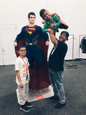Lego Live NYC Superman lego statue