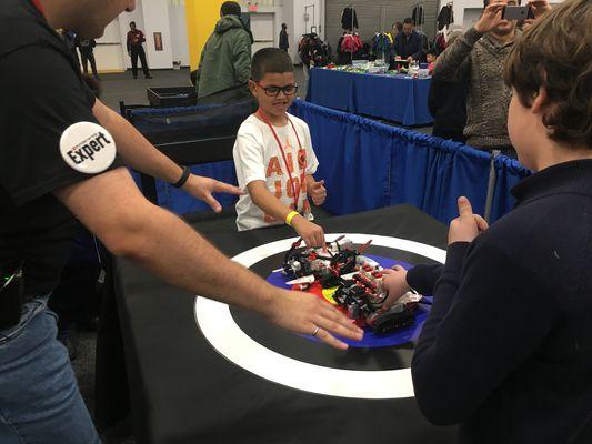 Lego Live NYC Lego Mindstorm Robot battle