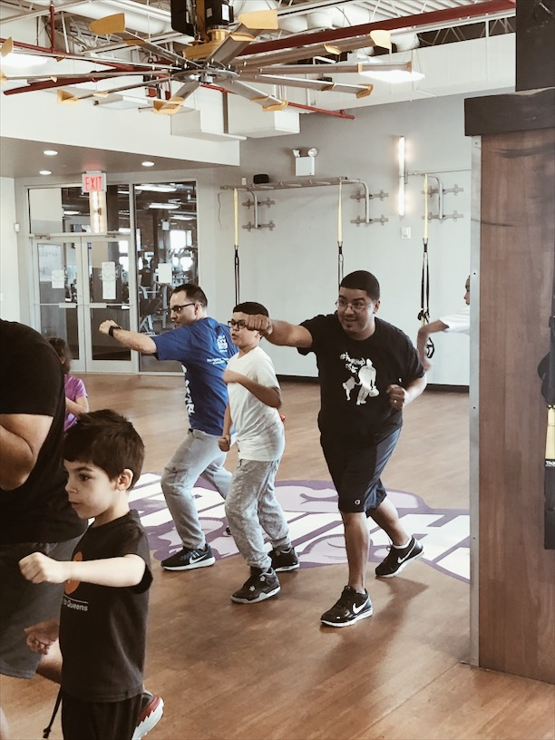 nyc dads group and kids throw some punches at crunch gym