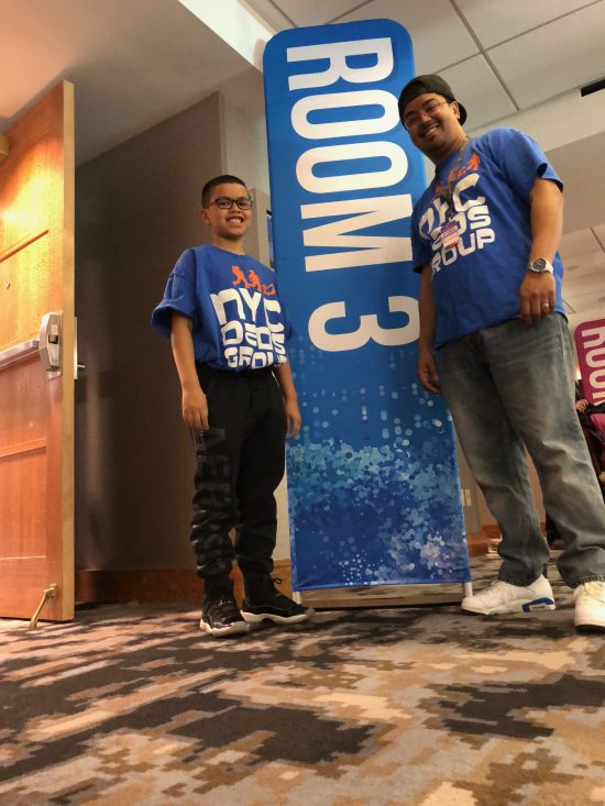 Yup, my son works events with me, great learning experience MommyCon