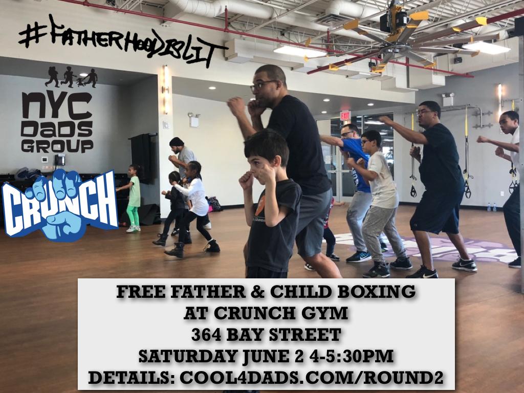 #FatherhoodIsLit Crunch Gym