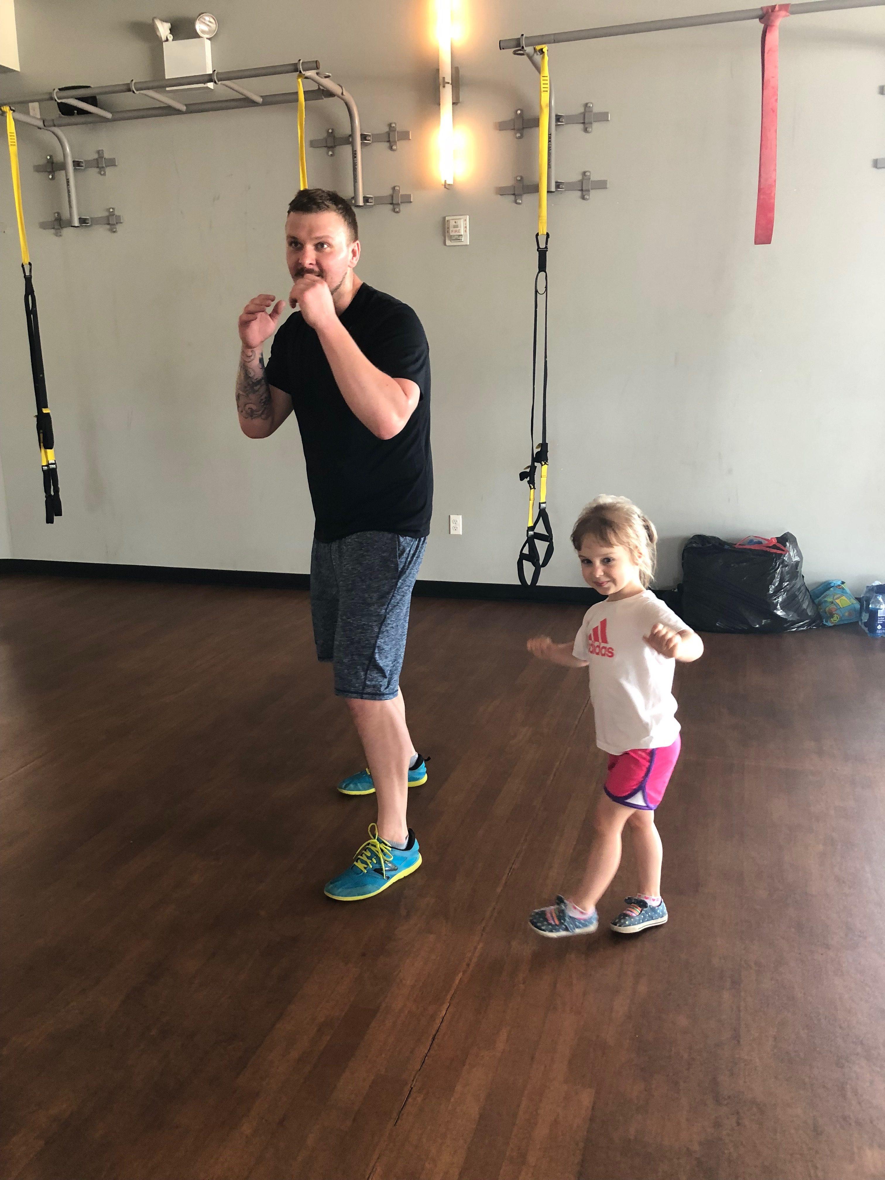 #FatherhoodIsLit Crunch Gym Dad Travel