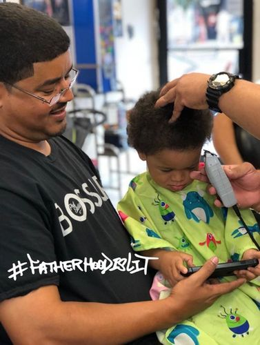 #FatherhoodIsLit haircut