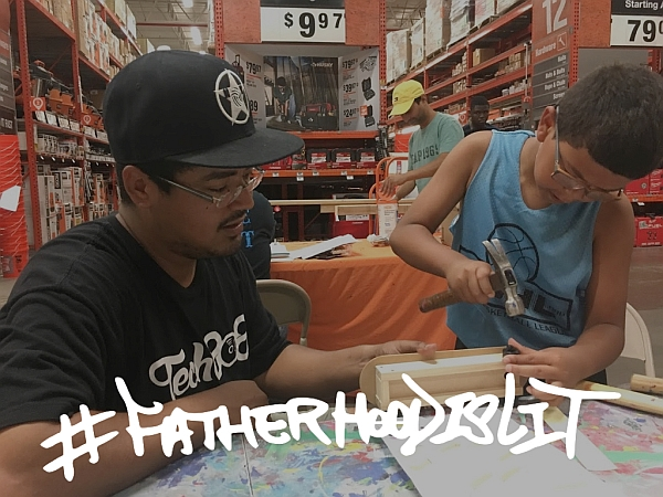 #FatherhoodIsLit x Home Depot
