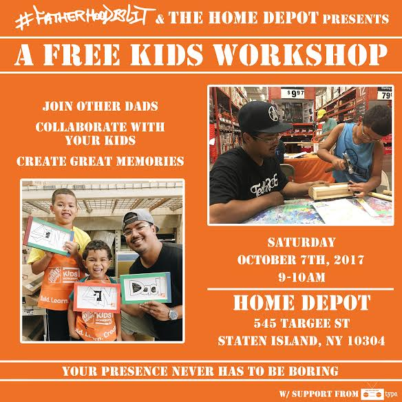 #FatherhoodIsLit x Home Depot Oct 7th
