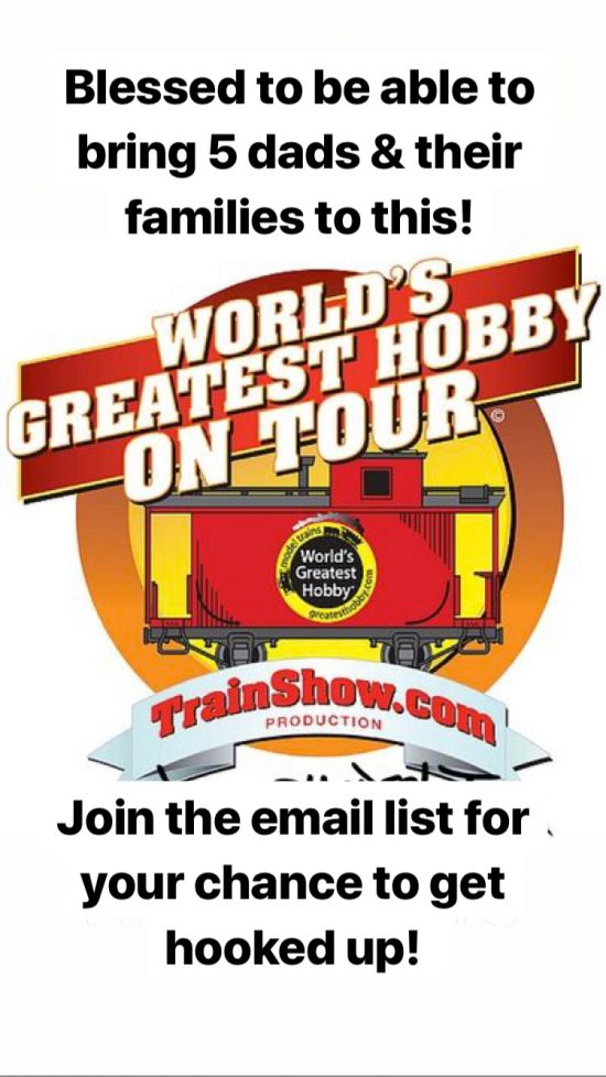#FatherhoodIsLit Train Show
