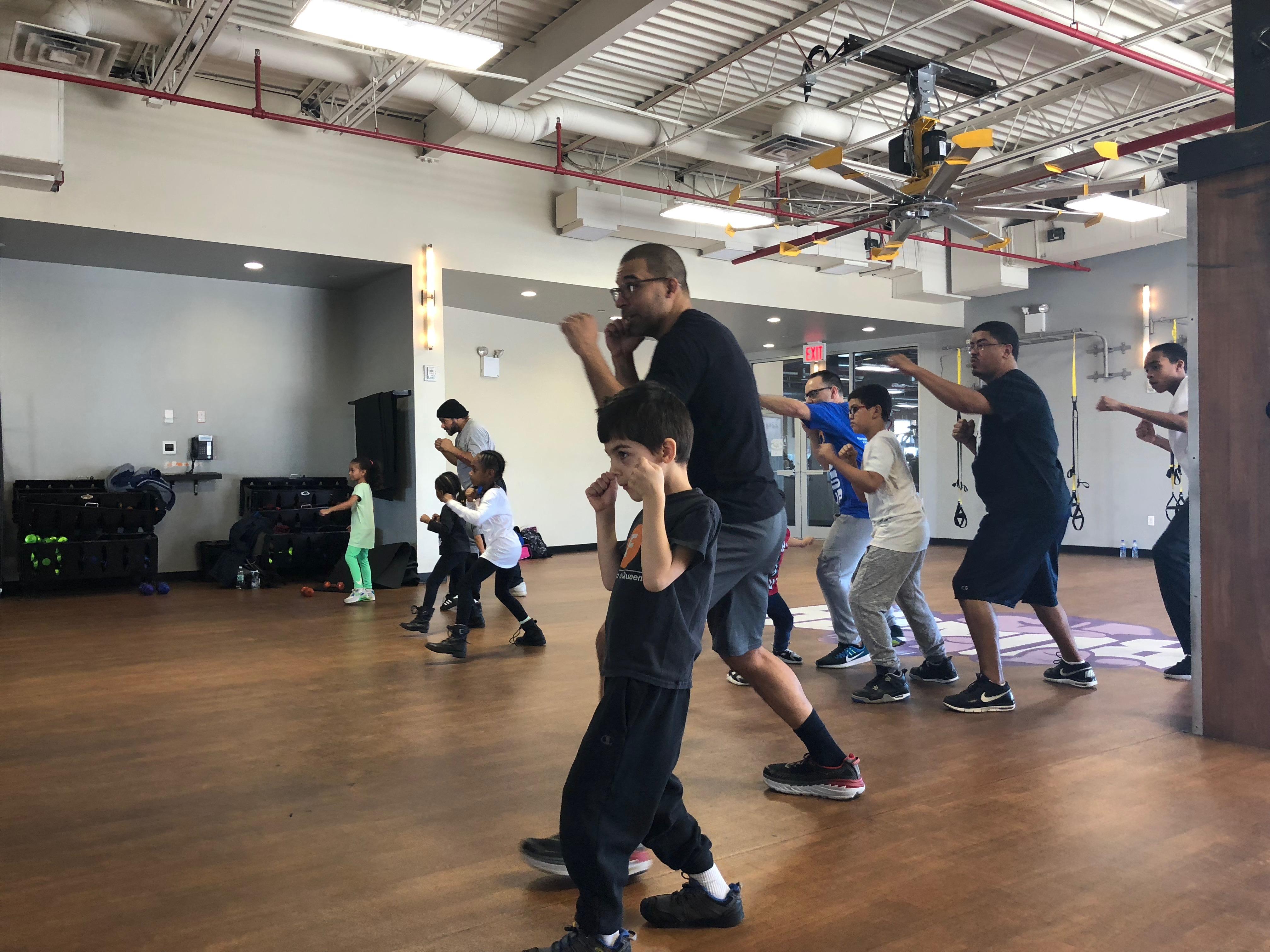 Father Child Boxing #FatherhoodIsLit Crunch Gym