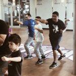 Boxing with kids crunch gym #FatherhoodIsLit