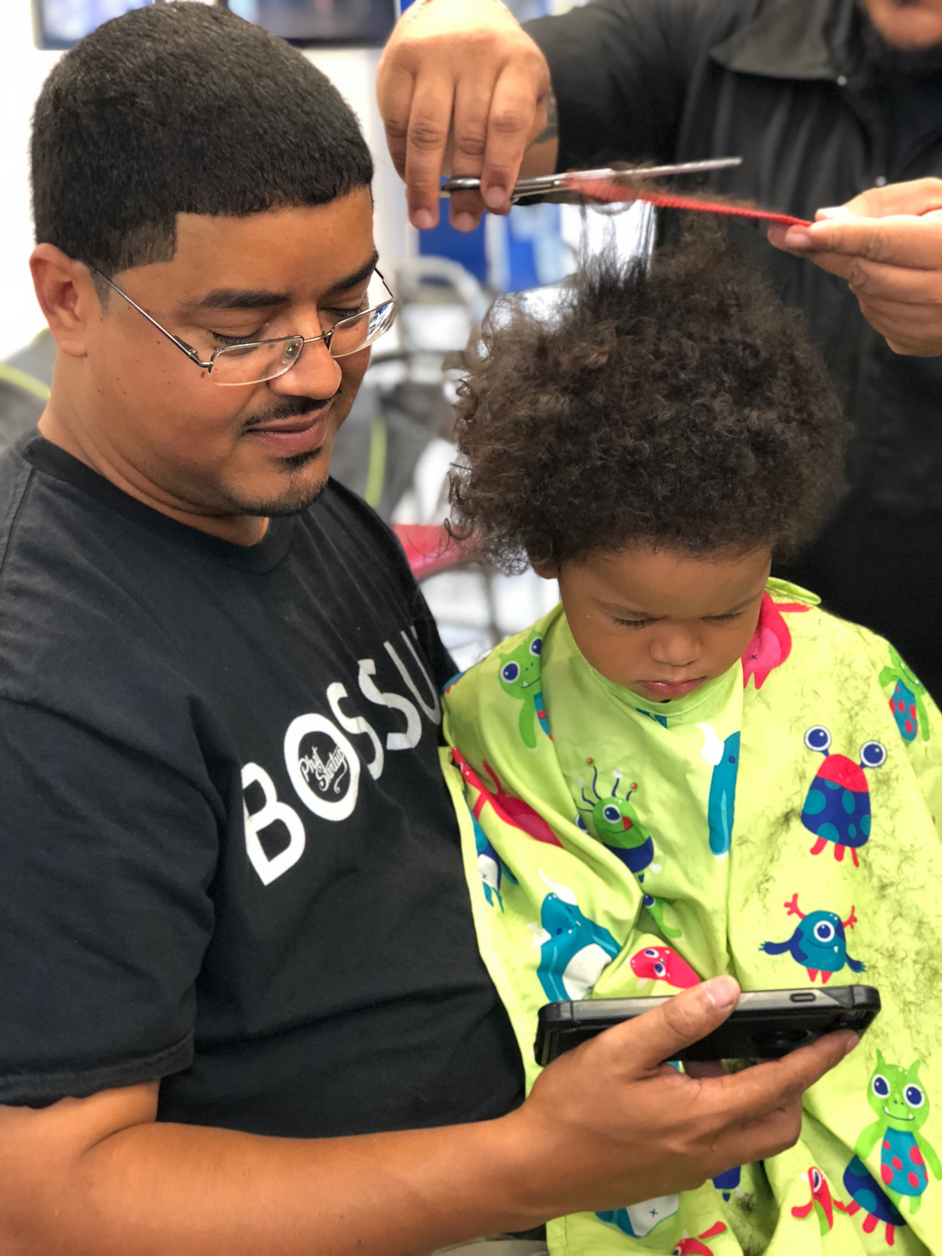 #FatherhoodIsLit 1st Haircut