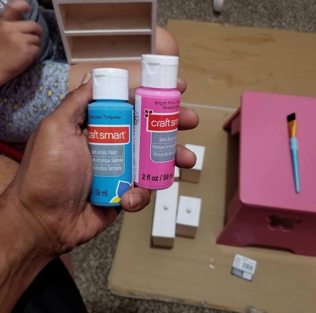 Building A Dresser Paint #FatherhoodIsLit