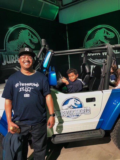 jurassic world jeep #fatherhoodIsLit