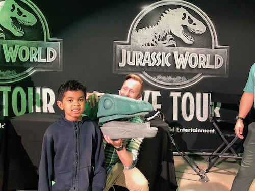 behind the scenes at Jurassic World Live Tour