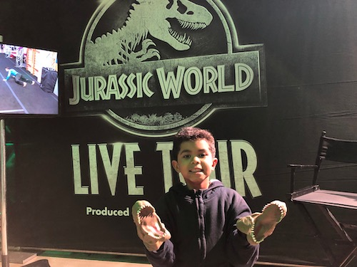 hand puppets Jurassic World Live Tour