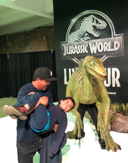 feeding time Jurassic World Live Tour #FatherhoodIsLit