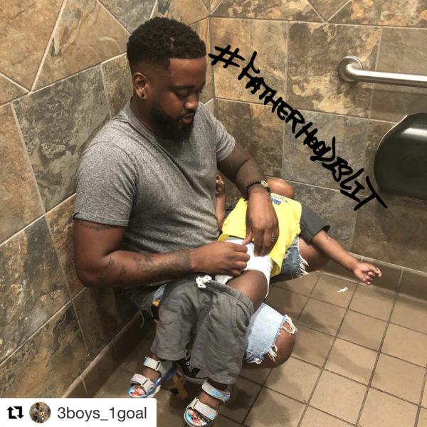 fatherhood is lit #squatforchange