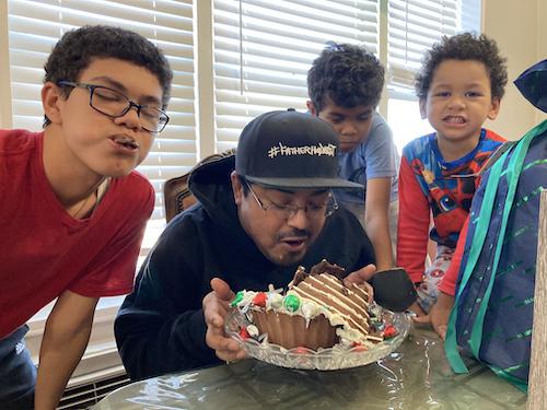 dad caught covid boys #FatherhoodIsLit